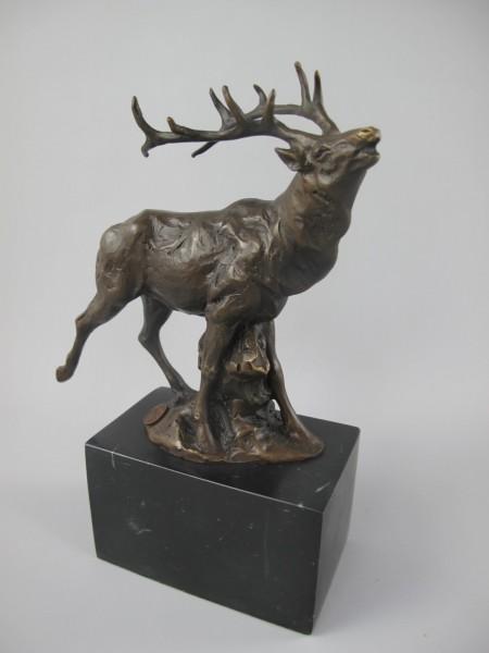 Figur Bronze HIRSCH H.25x18cm