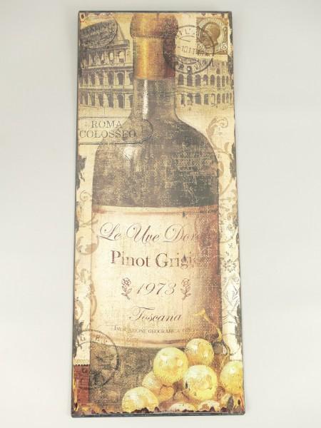 Wandschild Eisen Pinot Grigi 1973 H.50x20cm