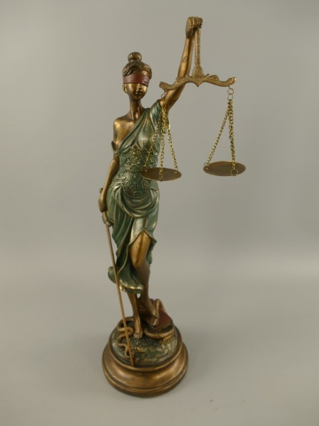 Justitia Polystein BRONZ farbig H.53x18cm