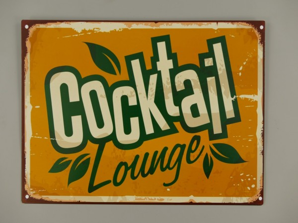 *ANG. Wandschild Eisen Cocktail H.25x33cm