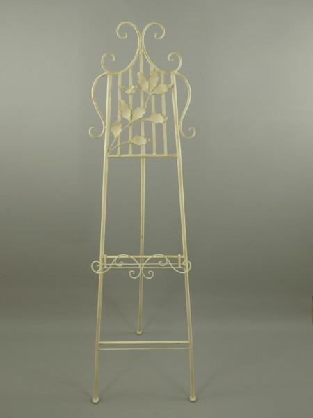 (*)Staffelei Antik Eisen Weiss H.163x50cm