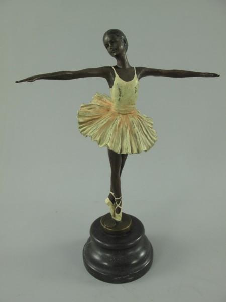 Figur Tanzerin Bronze Farbe H.30x22cm
