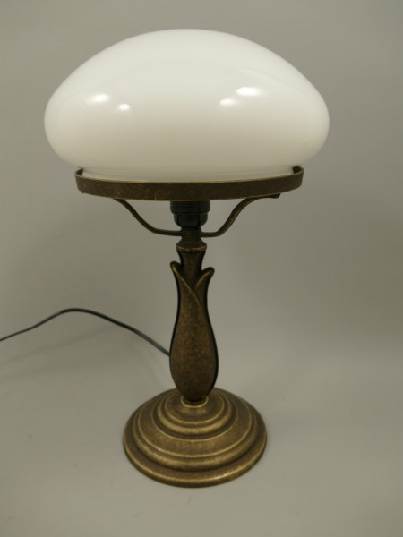 Pilzlampe Messing brün.(215.050-25) H.42cm