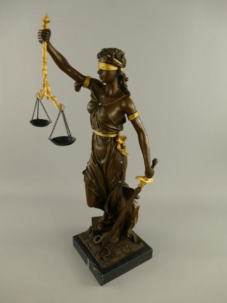 Justitia Bronze/Gold H.75x25cm