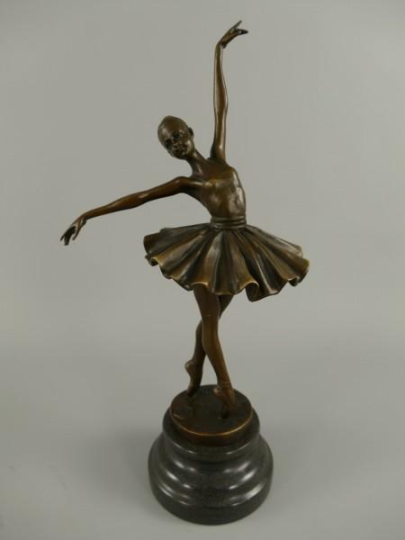 Figur Bronze Tanzerin H.33x16cm