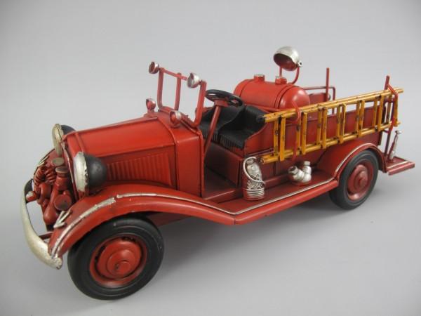 Feuerwehrwagen Antik Eisen L.25x10cm