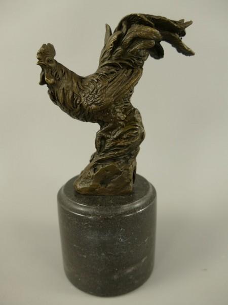 Figur Bronze Huhn H.15x9cm