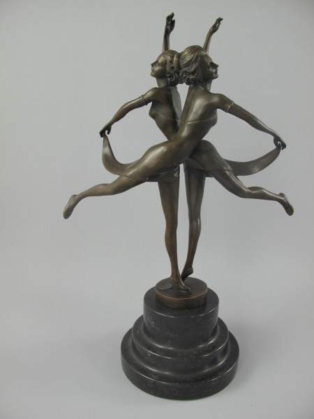Figur Bronze TANZPÄRCHEN H.36x24cm