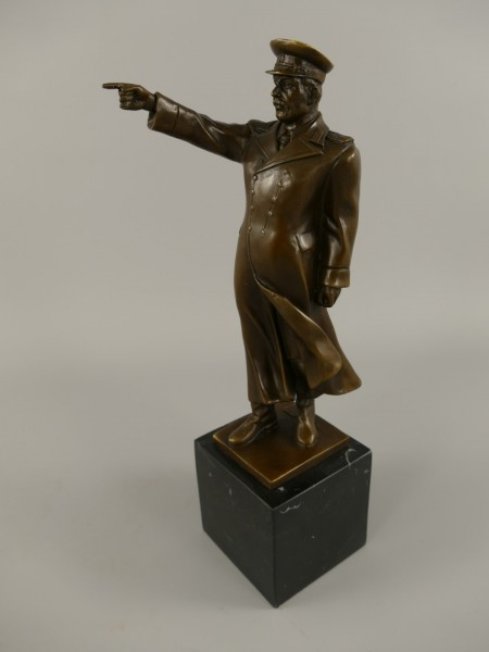 Bronze Figur Stalin H.31x8cm