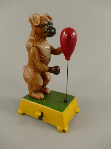 Hund BOXBALL Gußeisen farbig H.18cm