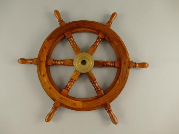 Schiffssteuerrad Messing/Holz D.75cm