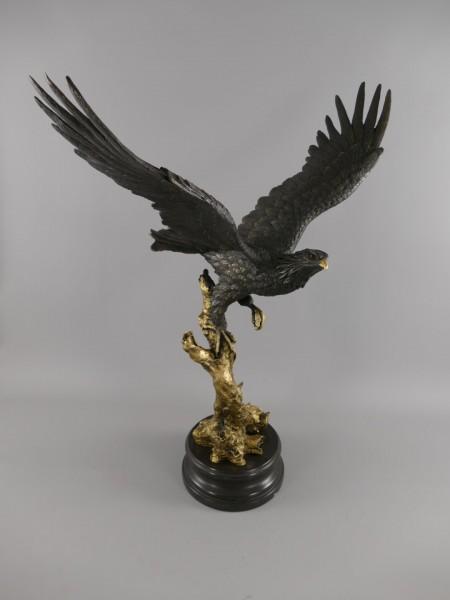 (*)Bronze Figur Adler H.80x72cm