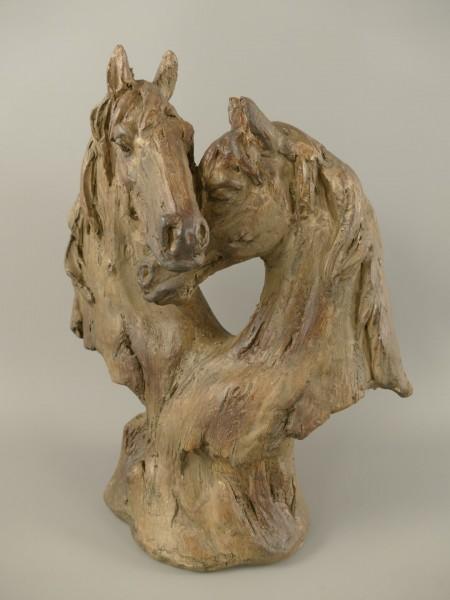 Figur Polystein Pferd farbig H.35x28cm