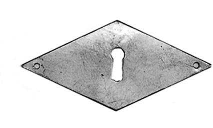 Beschlag Messing brüniert mit Loch 47x100mm