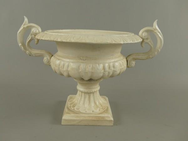 Urn Antik WEISS Eisen H.27x37cm