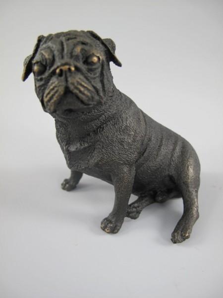 Figur Bronze Hund L.10x8cm