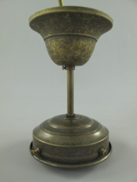 Deckenhalter Messing brün. o.Schirm Gh.8-H.15cm
