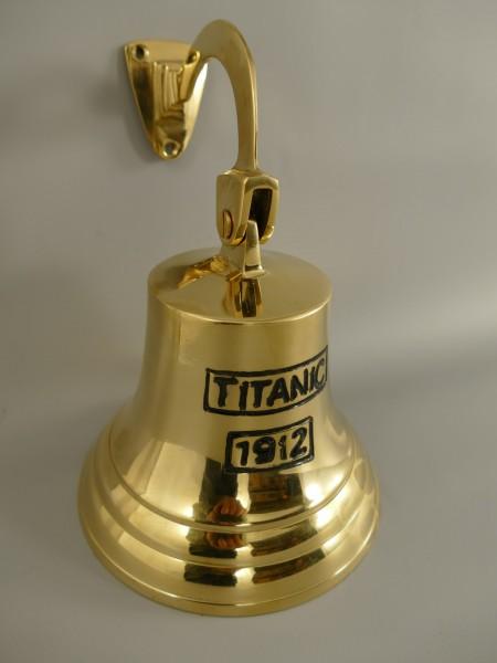 Glocke mit Haken Messing(IND) TITANIC H.20-D.14cm