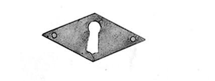 Beschlag Messing brüniert mit Loch 27x55mm