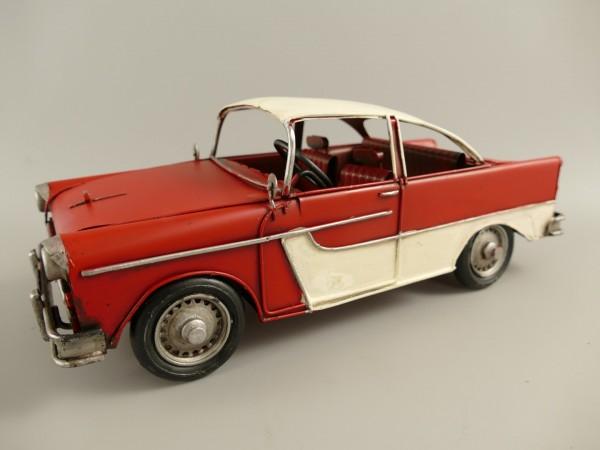 Auto rot/weiss Antik Eisen L.33x12cm
