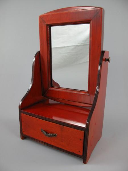 Schmuckschatulle mit Spiegel Holz Mahagonie H.34cm
