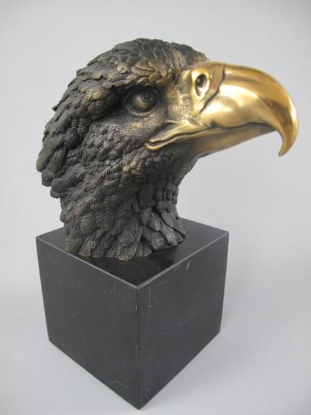 Figur Bronze ADLER!! H.21x17cm