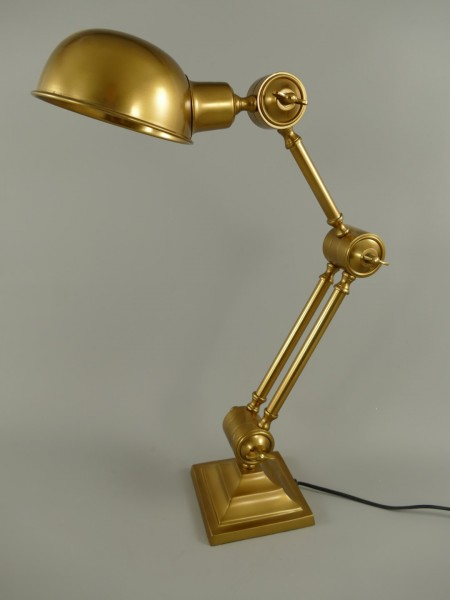 Stehlampe ALU Messing brün. farbig H.60x15cm