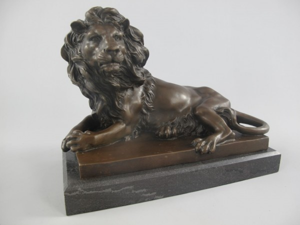 Bronze Figur LÖWE L.28x20cm