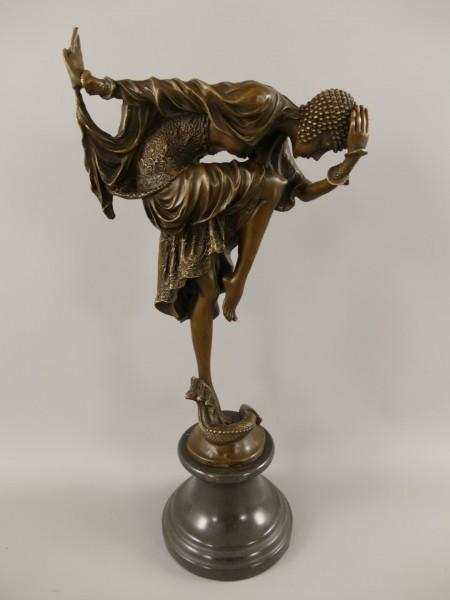 Bronze Figur Tänzerin H.44x21cm