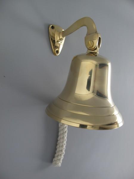Glocke mit Haken Messing(IND) GLATT H.20-D.14cm