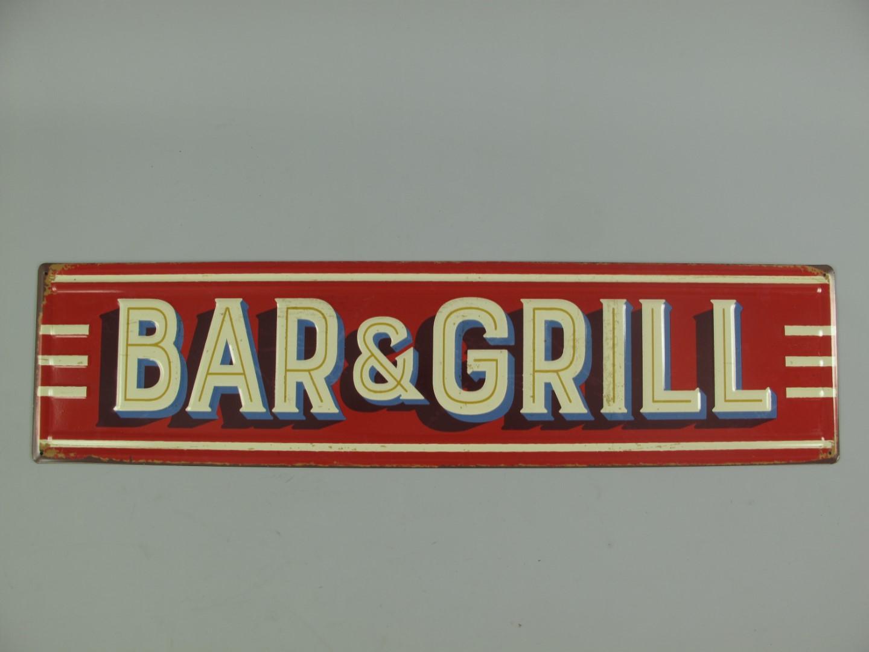 Dad´s Grill BBQ Blechschild Grillschild Gartenparty Dekoration