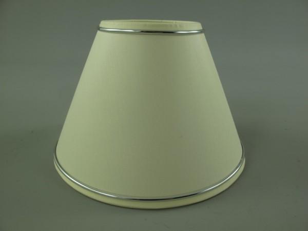 Stoffschirm Rand silber D.35cm
