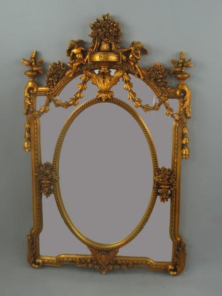 (*)*NT Spiegel(Gold) geschliffen H.135x85cm