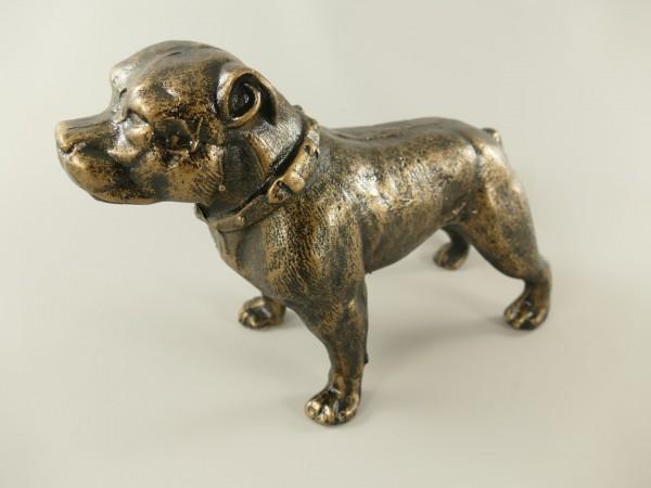 Hund Antik Eisen farbig L.30cm