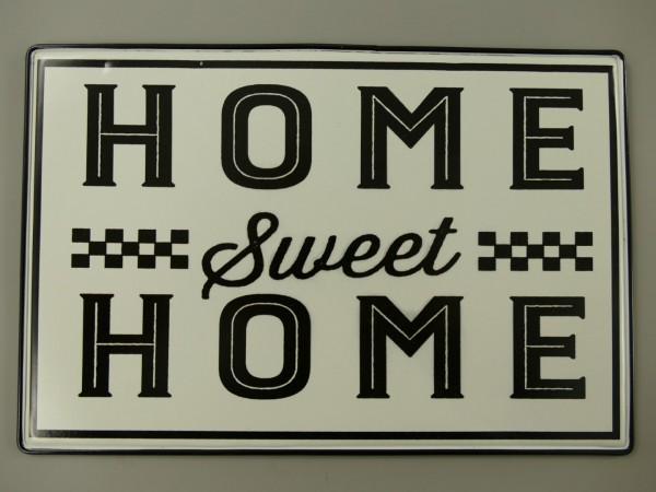 Wandschild(Gestanzt) Home Sweet Home L.30x20cm
