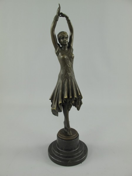 Figur Frau Bronze H.44-D.13cm