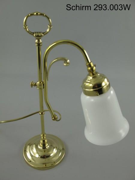 Lampe Messing Schirm(293.003W) H.45cm