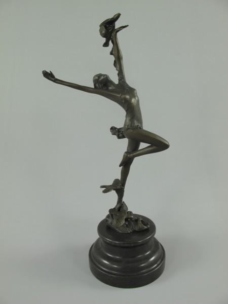 Figur Bronze Tänzerin H.30x13cm