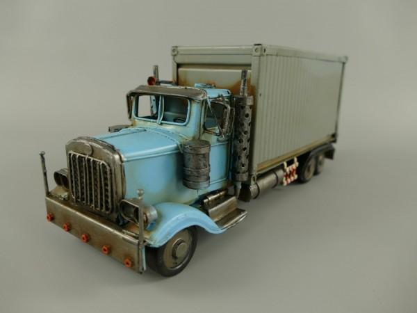 Truck grau/blau Antik Eisen L.29x12cm