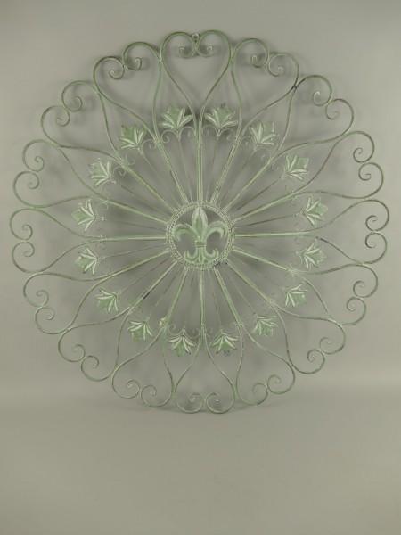 (*S) Wand Ornament Eisen grün H.95x95cm