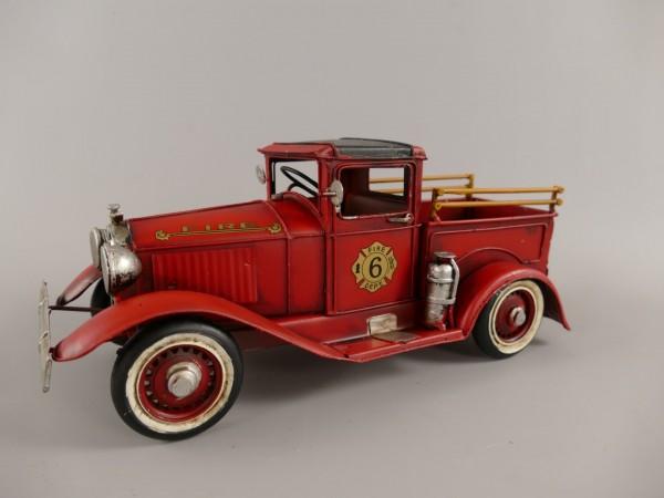 Feuerwehrwagen Antik Eisen L.29x12cm