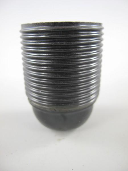 Fassung E27 2-adrig schwarz mit Gewinde