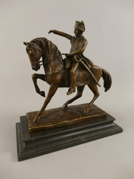 Figur Bronze Napoleon auf Pferd H.24cm