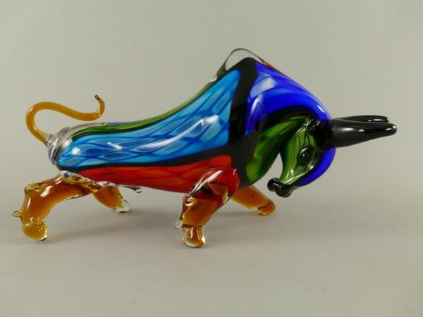 Glasfigur Bull farbe L.40x22cm