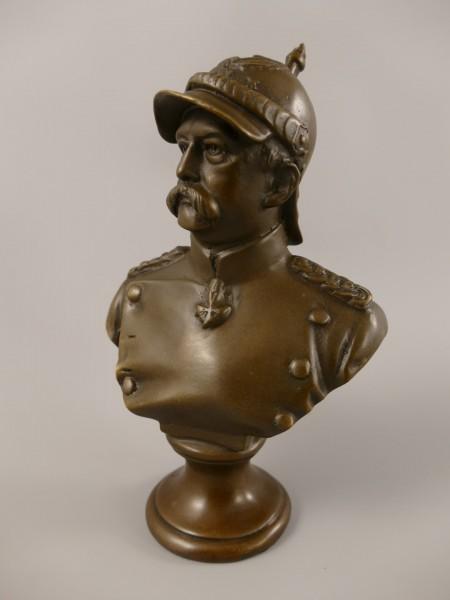 Bronze Figur Otto von Bismarck H.18x12cm
