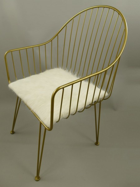 (*) *NT Stuhl Eisen gold farbig(2*WAHL) H.95cm