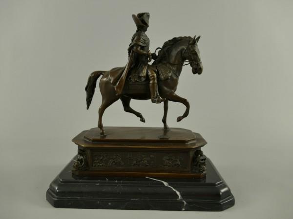 Bronze Figur Friedrich II H.25x25cm
