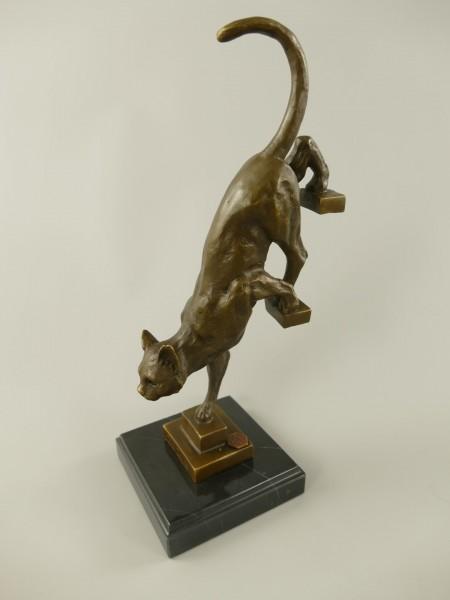 Figur Bronze Katze H.29x14cm