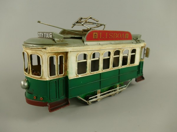 Straßenbahn Antik Eisen L.31x16cm