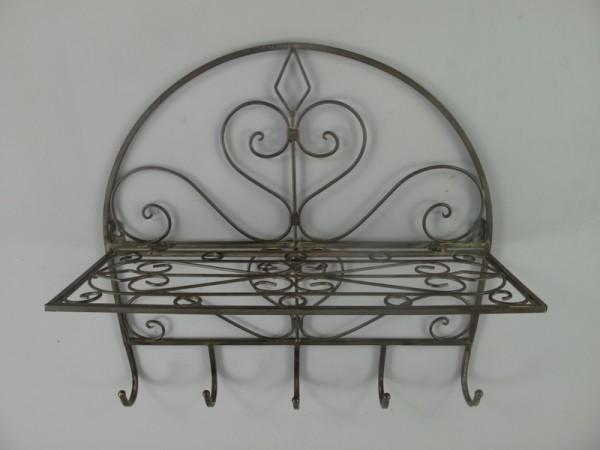 Wandhaken Eisen rustikal braun L.45x45cm